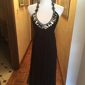 Catherine Malandrino Black Silk Evening Dress NWT
